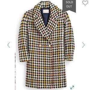 J Crew Collection Luxury Tweed Coat, NWT!